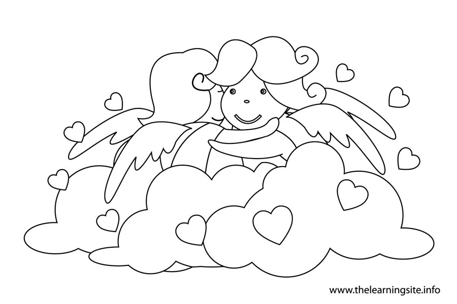 coloring-page-outline-valentinesday-two-angels-hugging
