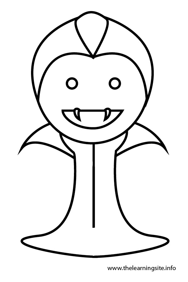 coloring-page-outline-vampire