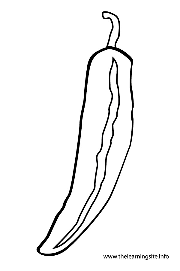 coloring-page-outline-vegetables-green-pepper