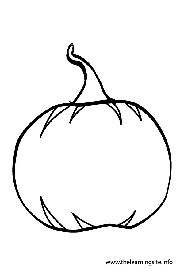 coloring-page-outline-vegetables-pumpkin