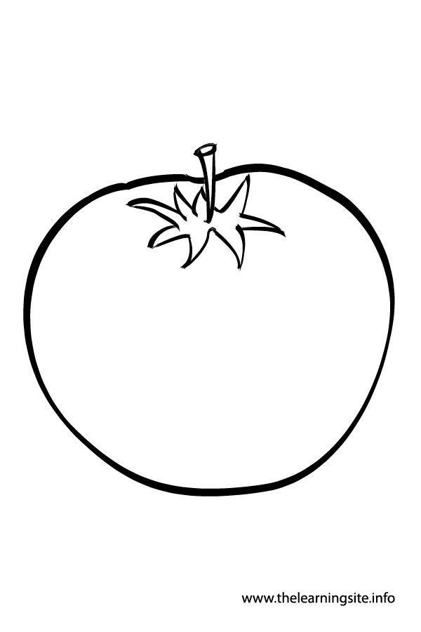 coloring-page-outline-vegetables-tomato