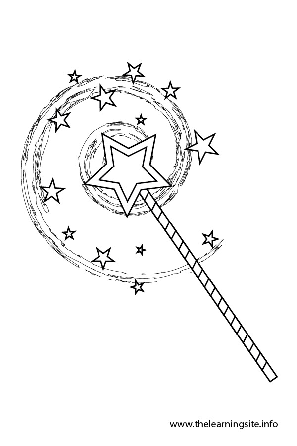 coloring-page-outline-wand