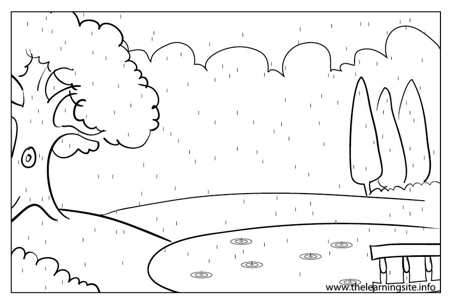 coloring-page-outline-weather-season-rainy
