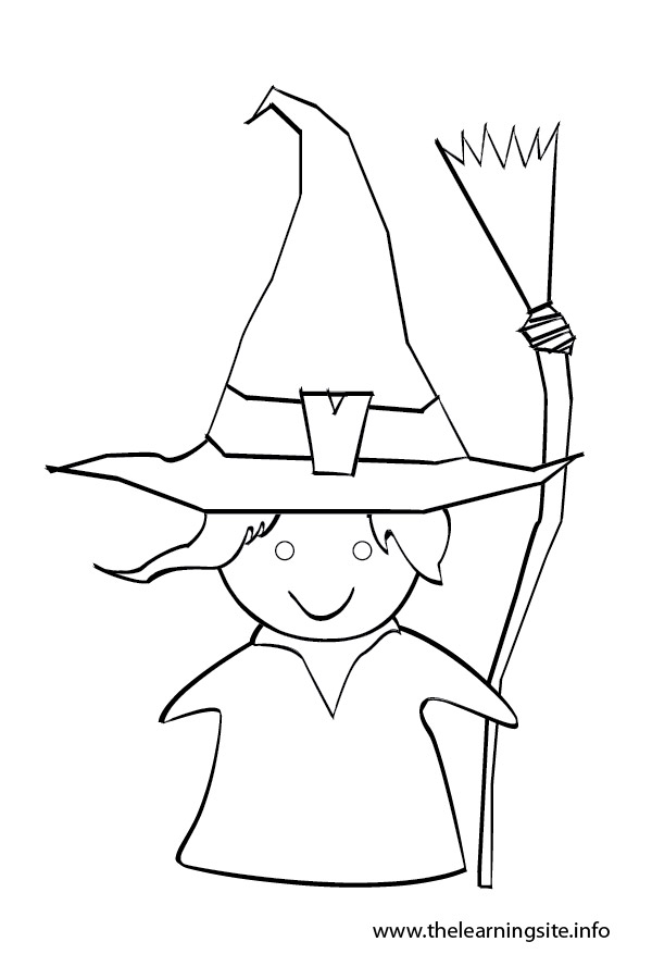 coloring-page-outline-witch