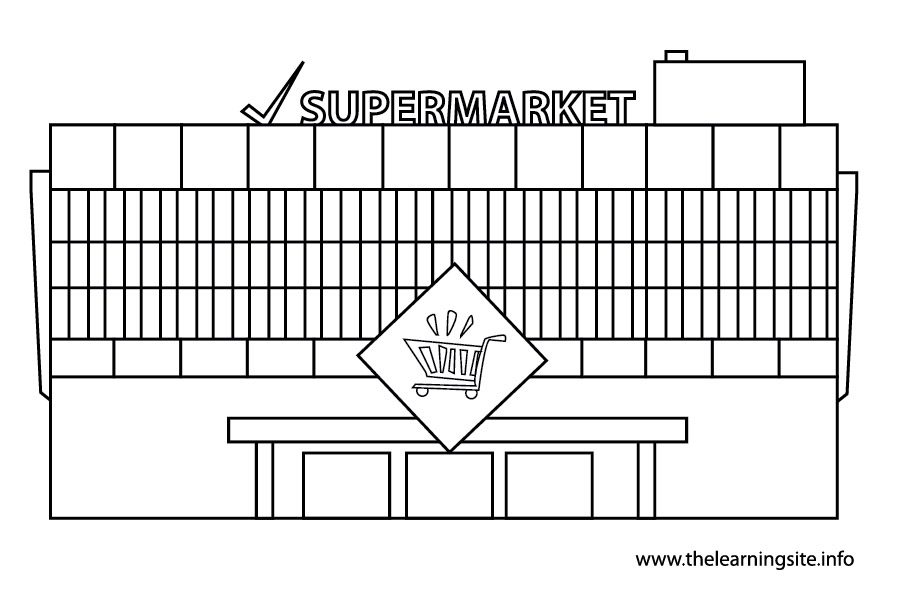 coloring-pages-outline-places-supermarket