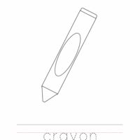 Crayon Coloring Worksheet