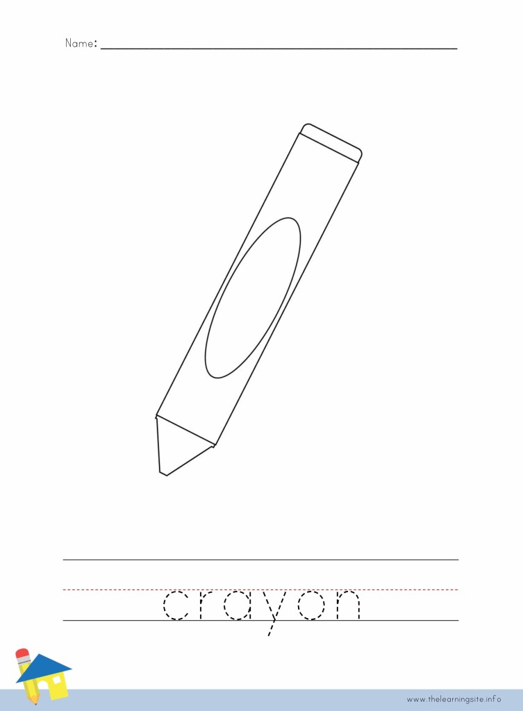 Crayon Coloring Page Outline