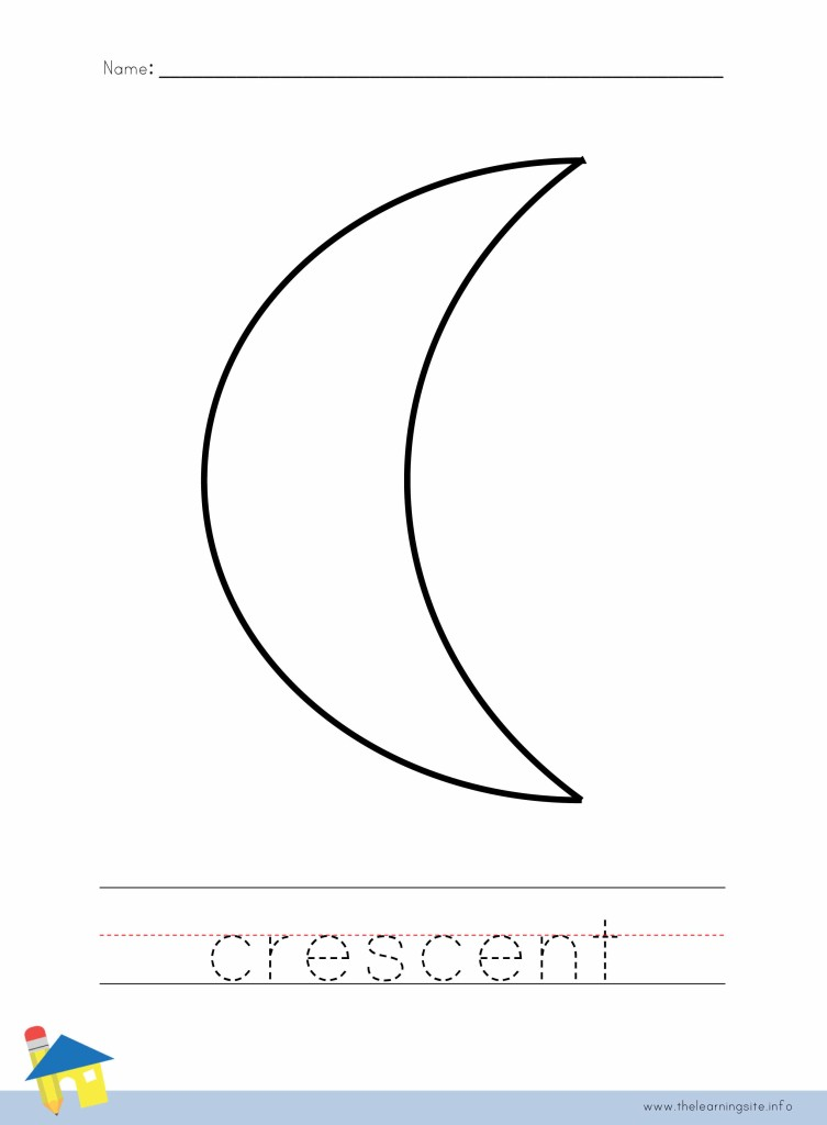 Crescent Coloring Page Outline