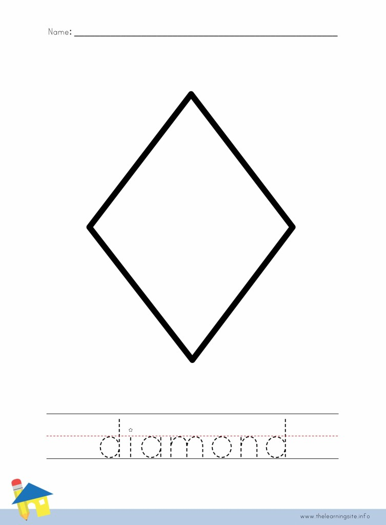 Diamond Coloring Page Outline
