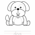 Dog Coloring Worksheet