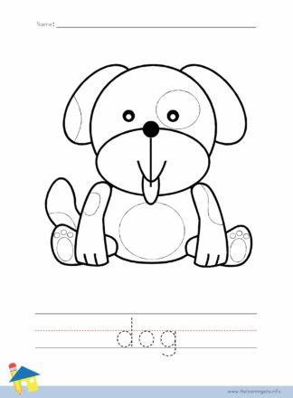 Dog Coloring Worksheet