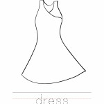 Dress Coloring Worksheet