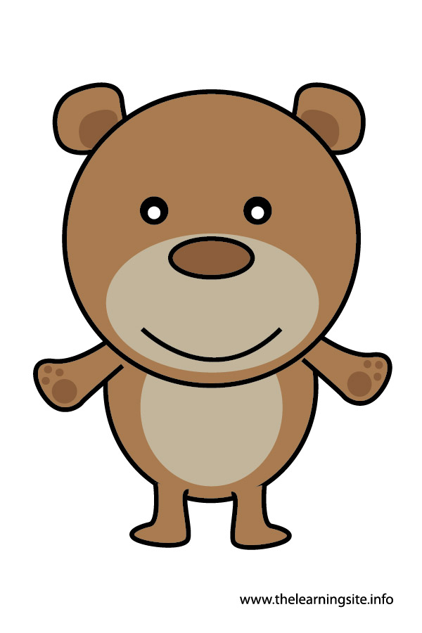 bear animal flashcard and clip art