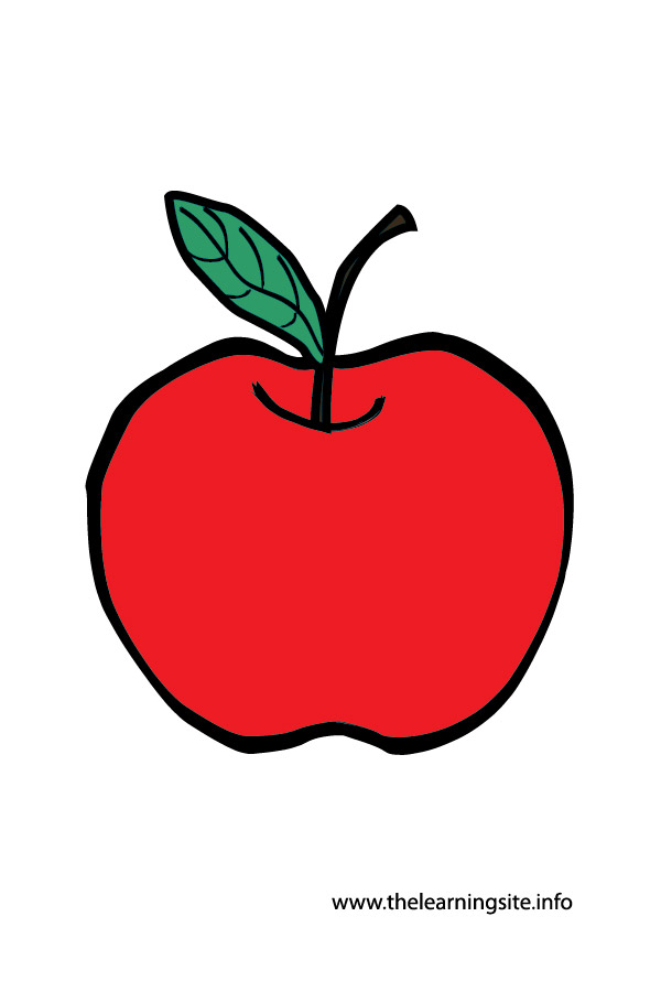 flashcard-apple