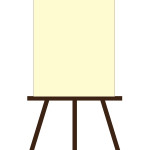 flashcard  art materials easel with blank canvas-01