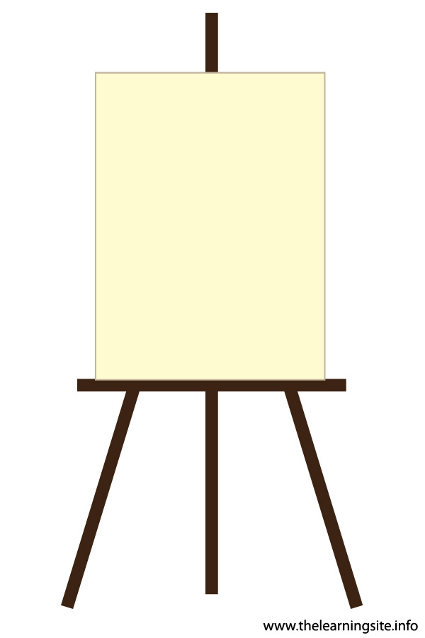 flashcard art materials easel with blank canvas