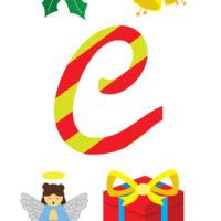 Christmas Alphabet Flashcards Set 1