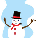 flashcard-christmas snowman-01