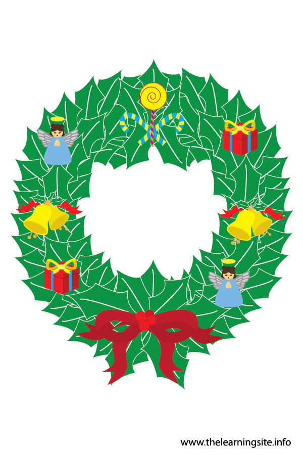 flashcard-christmas wreath-01