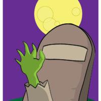 flashcard halloween zombie hand-01