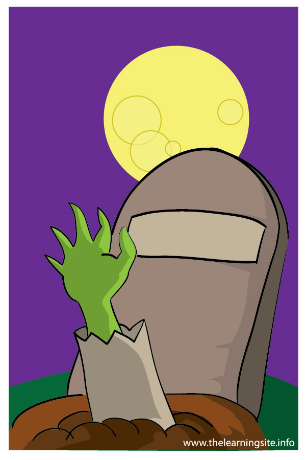 flashcard halloween zombie hand-01