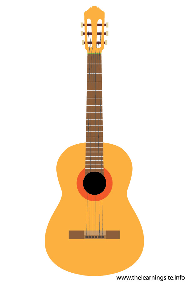 flashcard  musical instrument acoustic guitar-01