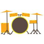flashcard  musical instrument drum set-01