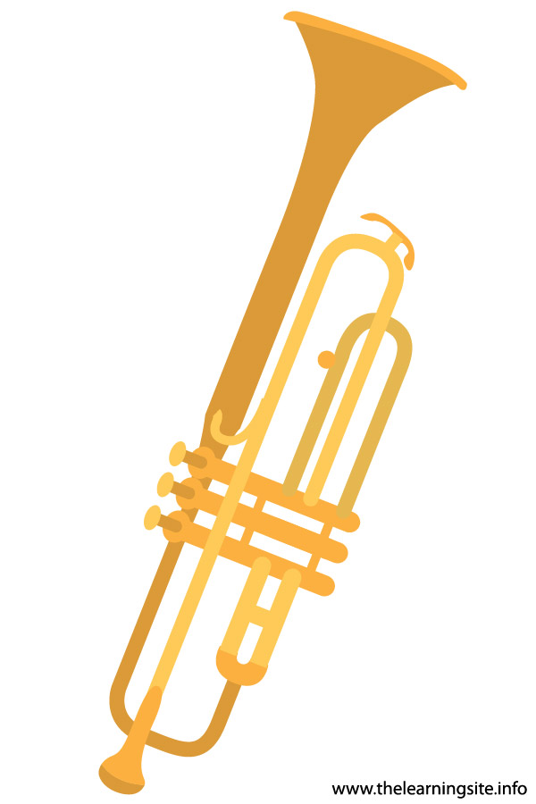 flashcard  musical instrument trumpet-01