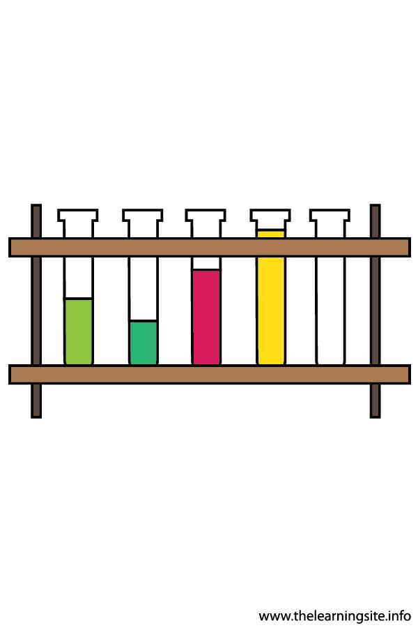 flashcard  scientific instrument testubes on a rack-01