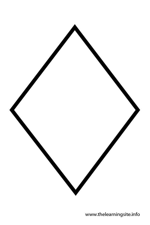 Diamond shapes colouring pages for Diamond coloring page
