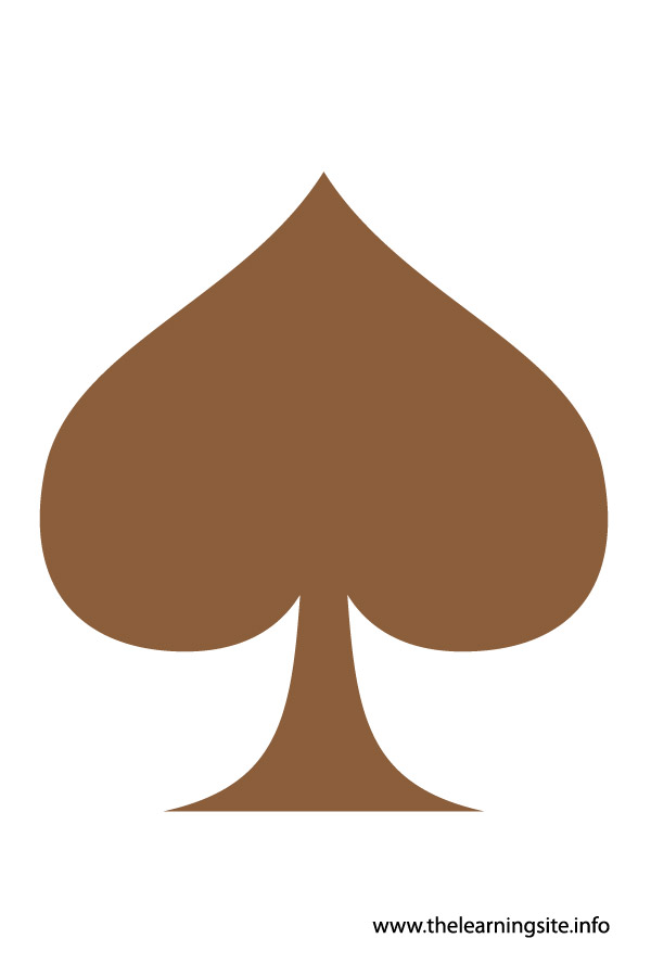 flashcard-shape spade