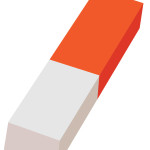 flashcard-stationery eraser