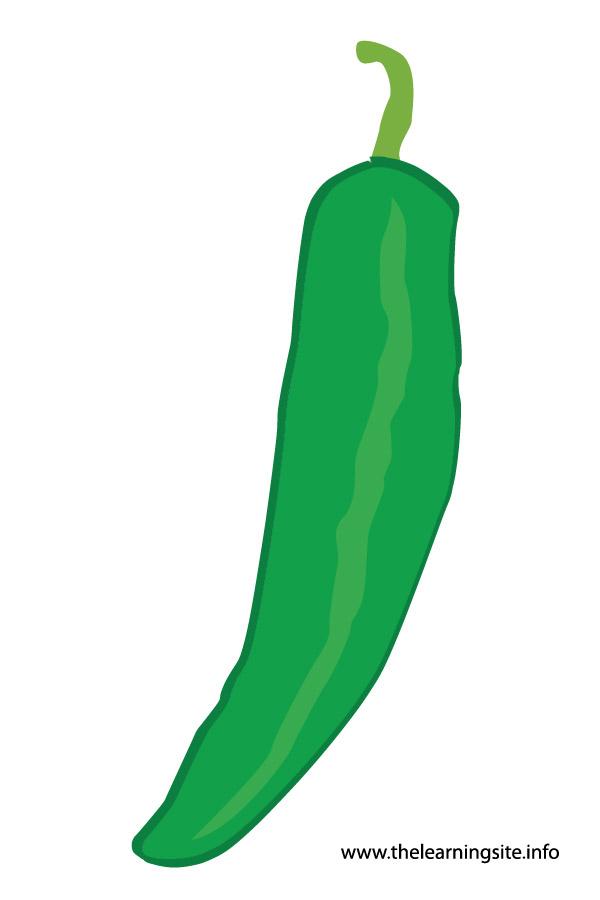flashcard-vegetables green pepper