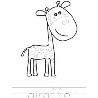 Giraffe Coloring Worksheet