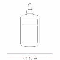 Glue Coloring Worksheet
