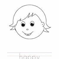 Happy Coloring Worksheet