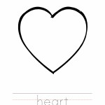 Heart Coloring Worksheet