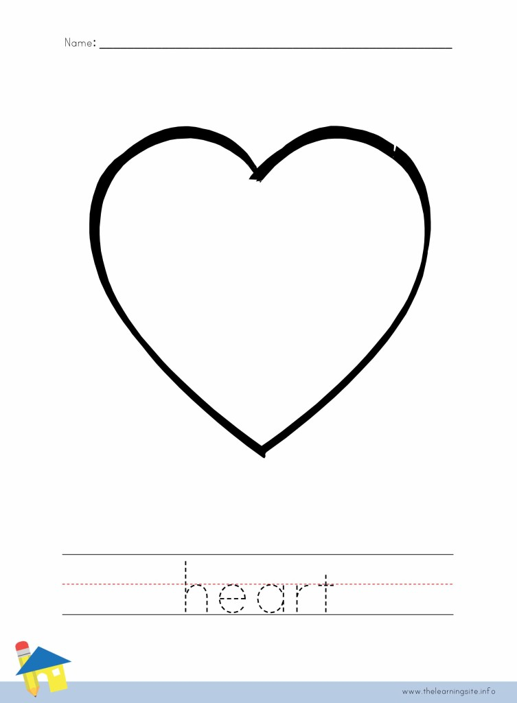 Heart Coloring Page Outline