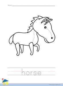 Horse Coloring Worksheet