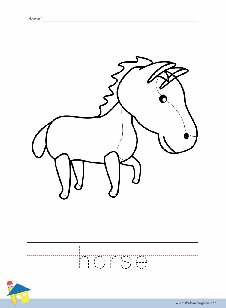 Horse Coloring Worksheet