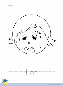 Hot Coloring Worksheet