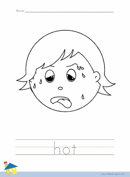Hot Coloring Worksheet