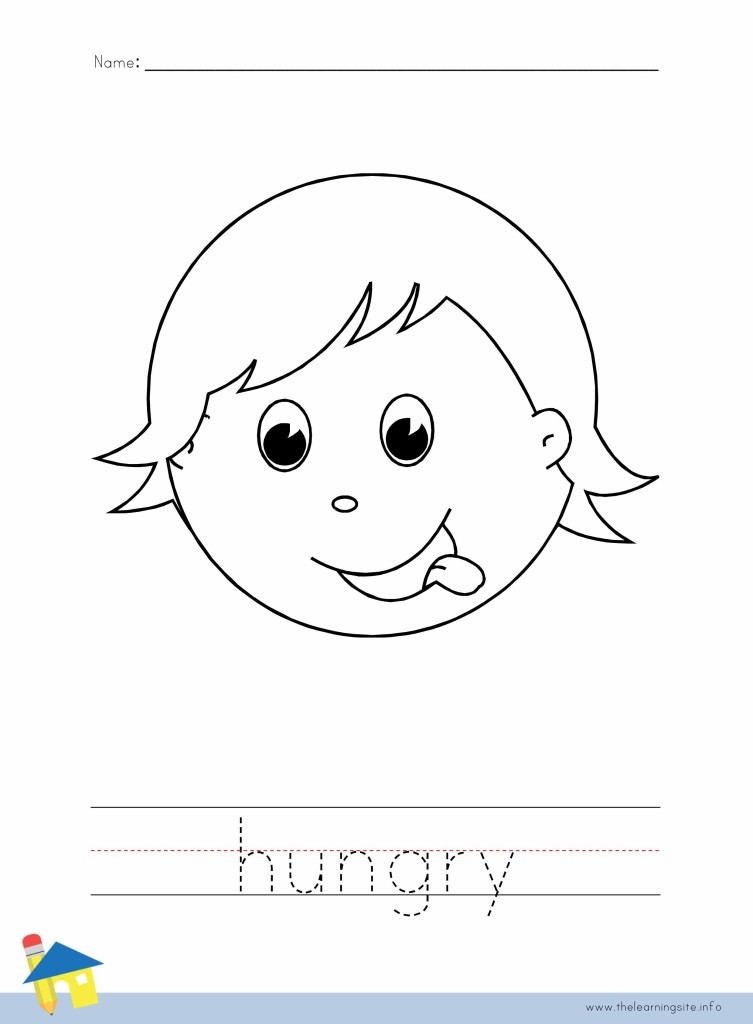 Hungry Coloring Page Outline