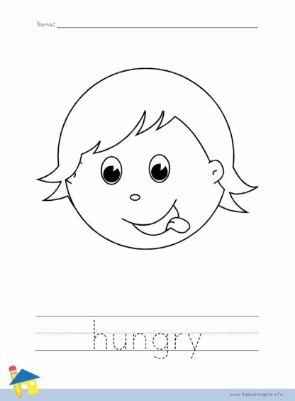 Hungry Coloring Worksheet