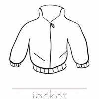 Jacket Coloring Worksheet
