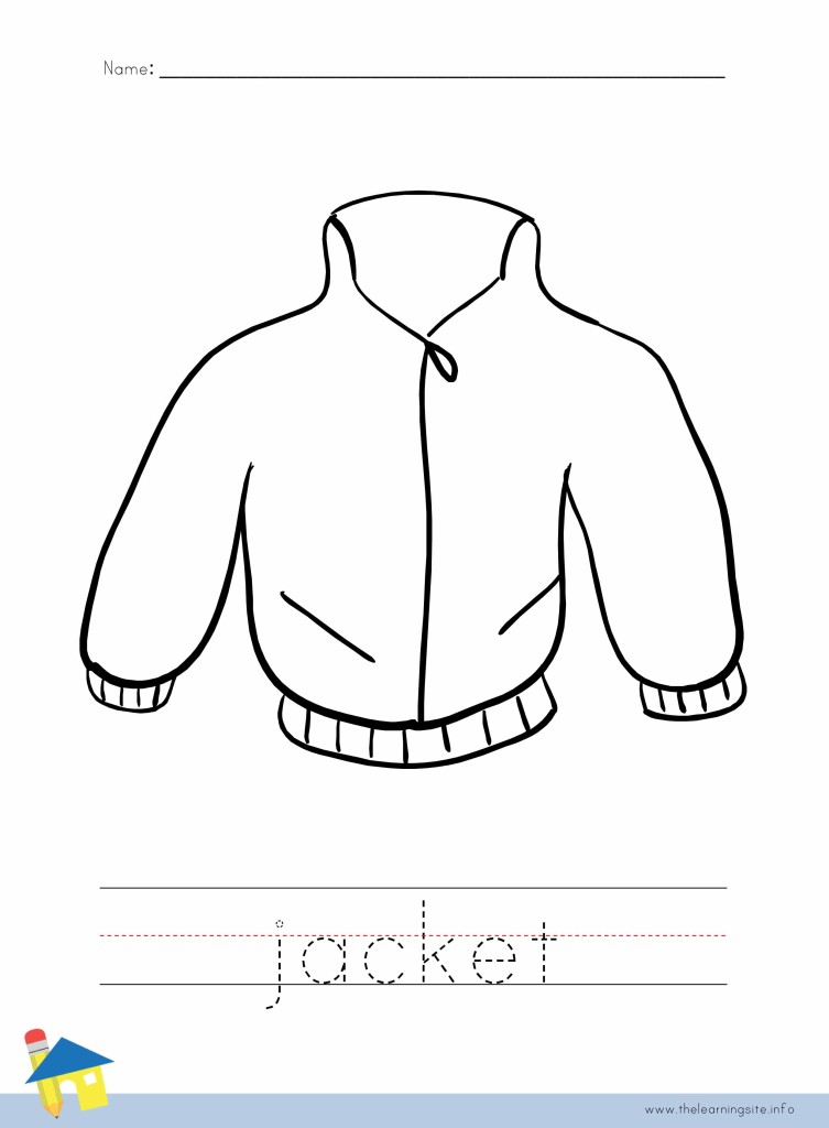 Jacket Coloring Page Outline