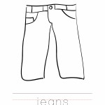 Jeans Coloring Worksheet