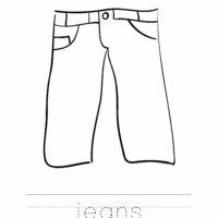 Jeans Coloring Worksheet