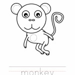 Monkey Coloring Worksheet