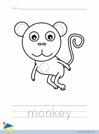 Monkey Coloring Worksheet
